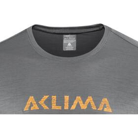 Aclima LightWool LOGO T-Shirt Men iron gate